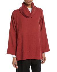 Eskandar - Wide Linen Monks Top With Front Pocket - Lyst