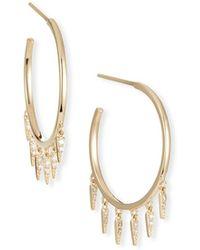 Sydney Evan - 14k Medium Diamond Fringe Hoop Earrings - Lyst