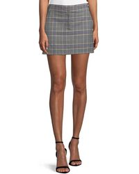 Tibi - Lucas Plaid Suiting Mini Skirt - Lyst