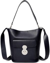 Ralph Lauren - Smooth Leather Bucket Bag - Lyst