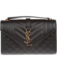 6f1a52aed4 Saint Laurent - Monogram Ysl Envelope Small Chain Shoulder Bag - Golden  Hardware - Lyst