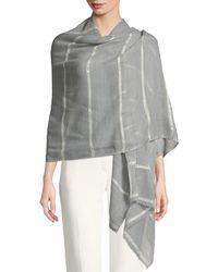 Bindya - Wool-silk Striped Stole Delicacy W/ Sequins - Lyst