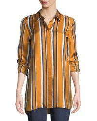 Lafayette 148 New York - Barry Striped Silk Blouse - Lyst
