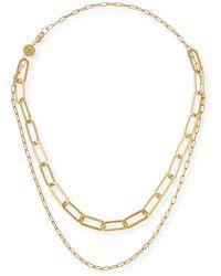Jennifer Zeuner - Ema Double-layer Chain Necklace - Lyst
