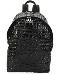 Versace - Zaino Men's Quilted-nylon Backpack - Lyst