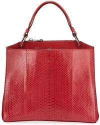 VBH - Seven 34 Python Scarlet Clutch Bag - Lyst