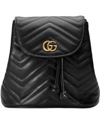 Gucci - GG Marmont Chevron-quilted Leather Backpack - Lyst 4e58954d6b8f3