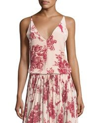 Giada Forte - Liberty Floral-print Velvet Camisole Top - Lyst