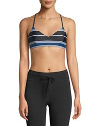 The Upside - St. Tropez Zoe Striped Sports Bra Top - Lyst