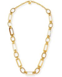 Ashley Pittman - Light Horn & Bronze Link Necklace - Lyst