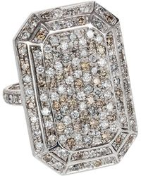 Carolina Bucci - 18k White Gold Looking Glass Emerald-cut Diamond Ring - Lyst