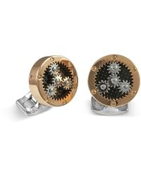 Deakin & Francis | Sun & Planet Rose Golden Gear Cuff Links | Lyst