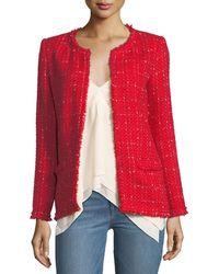 IRO - Quespo Open-front Tweed Jacket - Lyst