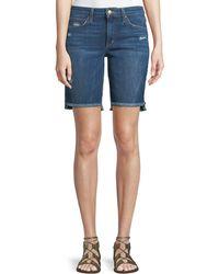 Joe's Jeans - Finn Raw-edge Denim Bermuda Shorts - Lyst