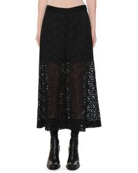 Stella McCartney - Lace Partially-lined Culotte Pants - Lyst