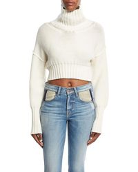 Tre by Natalie Ratabesi - Cropped Knit Turtleneck Sweater - Lyst