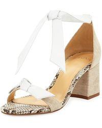Alexandre Birman - Clarita Mixed Block-heel Sandal - Lyst