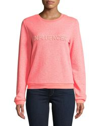 MILLY - Influencer Pearl Sweatshirt - Lyst