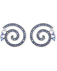 Eddie Borgo - Paradox Spiral Crystal Hoop Earrings - Lyst