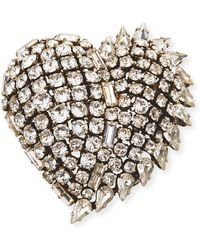 Saint Laurent - Smoking Heart Pin - Lyst