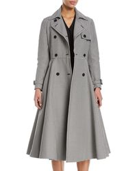 Sara Battaglia - Houndstooth A-line Trenchcoat - Lyst
