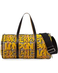 Burberry - Men's Signature Check Hold-all Duffel Bag - Lyst
