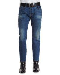Tom Ford - Regular-fit Vintage Wash Selvedge Denim Jeans - Lyst