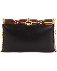 4b67771a6071 Gucci - Broadway Evening Palm Lux Leather Clutch Bag - Lyst