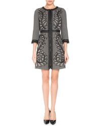 Andrew Gn - 3/4-sleeve Embroidered Wool-blend Coat - Lyst