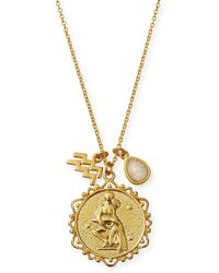 Tai - Zodiac Charm Necklace W/ Moonstone - Lyst