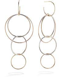 Lana Jewelry - 14k Gold Bonded Wire Hoop Earrings - Lyst