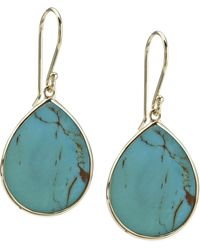 Ippolita - 18k Small Teardrop Slice Earrings In Turquoise - Lyst