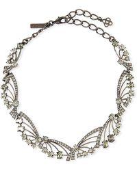 Oscar de la Renta - Crystal Fan Necklace - Lyst