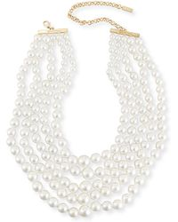 Fallon - Monarch Pearly Choker Bib - Lyst