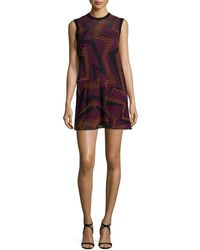 M Missoni - Sleeveless Ribbed Geometric-knit Dress - Lyst