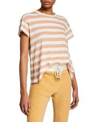The Great - The Boxy Striped Crewneck Tee - Lyst