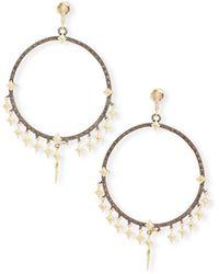 Armenta - Old World Diamond Crivelli Hoop Earrings With Dagger Charms - Lyst