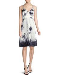 Helmut Lang - Stain-print Sleeveless Slip Dress - Lyst