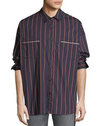 Fear Of God - Men's Oversized Striped Button-front Shirt - Lyst