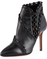 Alaïa - Side-lace Ankle Booties - Lyst