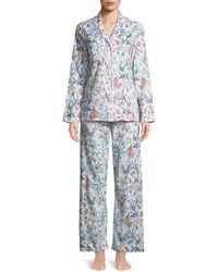 Derek Rose - Ledbury Floral-print Cotton Pajama Set - Lyst