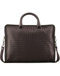 Bottega Veneta - Slim Woven Briefcase - Lyst
