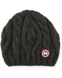 Canada Goose - Ladies' Chunky Cable-knit Beanie Hat - Lyst
