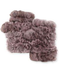 Jocelyn - Fingerless Fur Mittens - Lyst