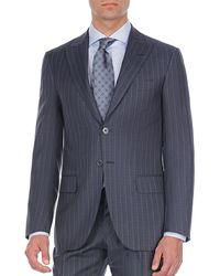 Isaia - Pinstriped Two-piece Wool Suit - Lyst