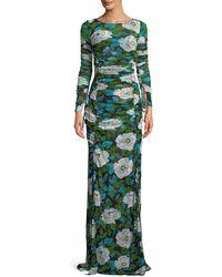 Diane von Furstenberg - Floral Maxi Floor-length Fitted Dress - Lyst