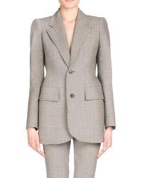 Balenciaga - Plaid Stretch-wool Blazer - Lyst