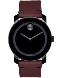 Movado Bold - Men's Bold Tr90 Two-hand Watch With Brown Leather Strap - Lyst