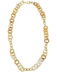 Ashley Pittman | Mawani Light Horn & Bronze Necklace | Lyst