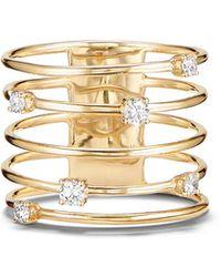 Lana Jewelry - 14k Gold Diamond Wire Crown Ring - Lyst